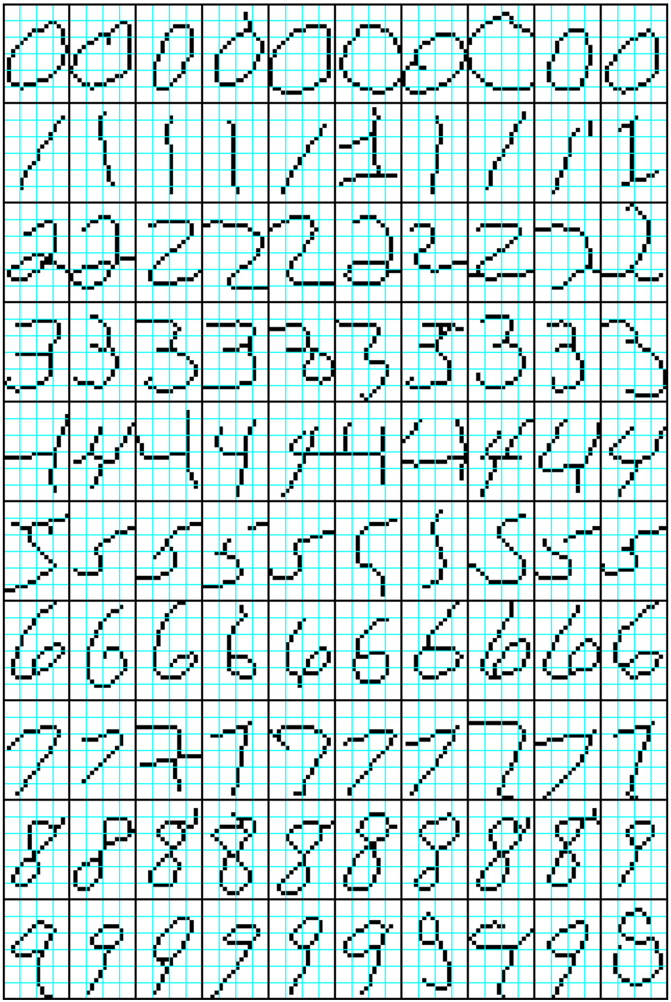 MNIST preprocessed examples